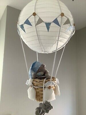 Hot  air balloon nursery light shade, made to order