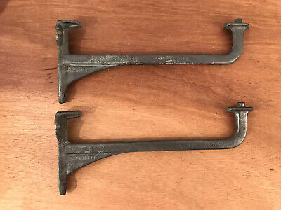 Antique Cast Iron Pair of Dauntless Wall Brackets - Sink, Shelf, Cistern