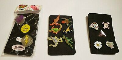 13 Shoe Charms Skechers Cali Bits for Crocs - Dinosaurs Light Up Skulls Rainbow