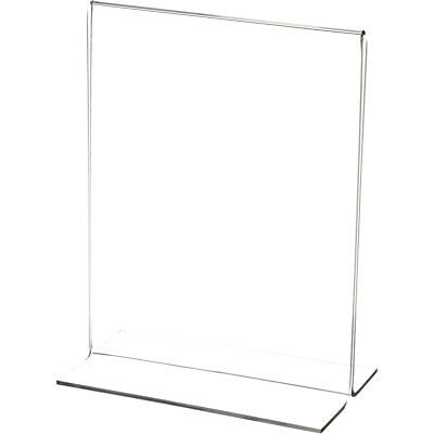 "Plymor Clear Acrylic Sign Display/Literature Holder (Bottom-Load), 5.5"" W x 7"" H"