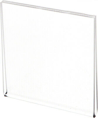"Plymor Clear Acrylic Folder-Style Sign Display Holder / Protector, 3.5""W x 3.5""H"