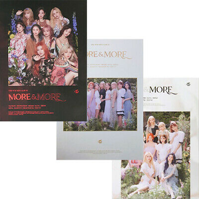 TWICE [MORE & MORE] Mini Album 3 Ver SET 3CD+POSTER+3 P.Book+15 Card+3 Pre-Order