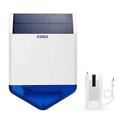 KERUI Outdoor Waterproof Flash light Solar Siren Security System&launcher Alarm