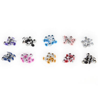 100Pcs 3Mm Scrapbook Eyelet Random Mixed Color Metal Eyelets For Diy Cloth PKJ