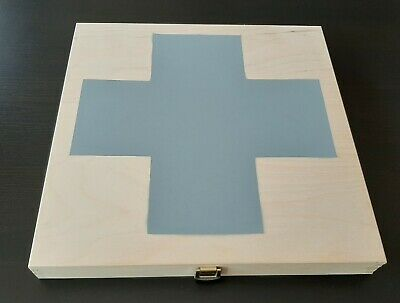 Laibach Wooden Box - Grey Cross - 3 CDr 1 LP and more Ltd to 5 different copies