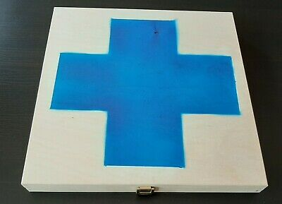 Laibach Wooden Box - Blue Cross - 3 CDr 1 LP and more Ltd to 5 different copies