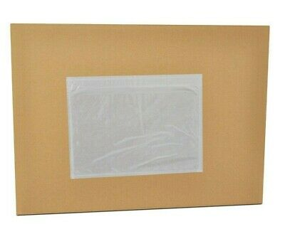 """100PC 7.5"""" x 5.5"""" Clear Adhesive Packing List Pouches Shipping Label Envelopes"""