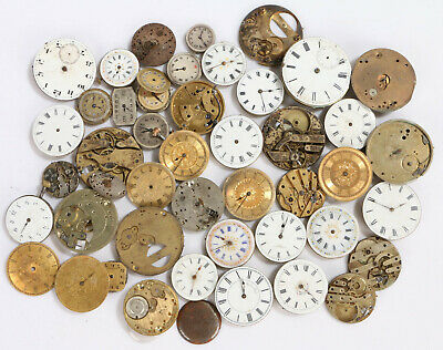 Antique / Vintage Clock, Watch, Pocketwatch Dials, Job lot Spares