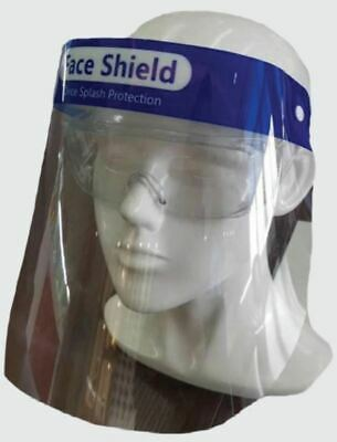 Safety Face Shield - Lightweight, Anti-Fog Resistant Plastic Shield