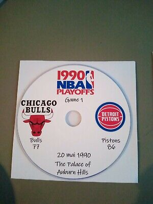 NBA Playoffs 1990 DVD Michael Jordan Bulls vs Pistons