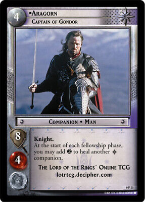 The Lord of the Rings TCG Aragorn Defender of Free Peoples x 1 LOTR 0P47 CCG