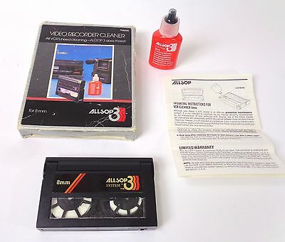 Vintage Allsop 3 Video Recorder Cleaner for 8mm with Cleaning Fluid