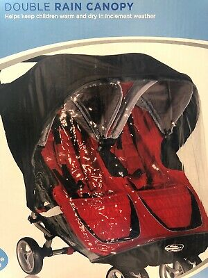 Baby Jogger Rain Canopy for City Mini & GT Double Stroller - New! Free Shipping!