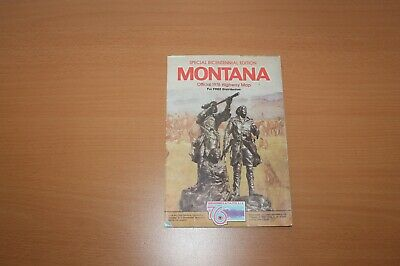 Vintage Road Map -- Montana Bicentennial Edition 1976