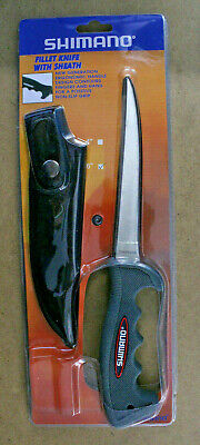 "6"" Shimano Fillet Knife With Sheath / Ergonomic Handle 420 Steel  ~ BRAND NEW"