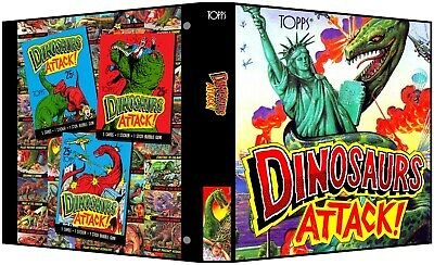 DINOSAURS ATTACK! Custom 3-Ring Binder for 1988 Trading Cards