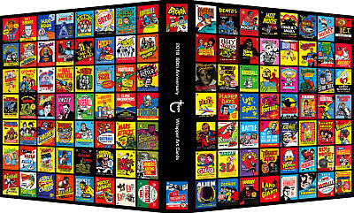 TOPPS 80th ANNIVERSARY 2018 WRAPPER ART CARDS Custom 3-Ring Binder Album