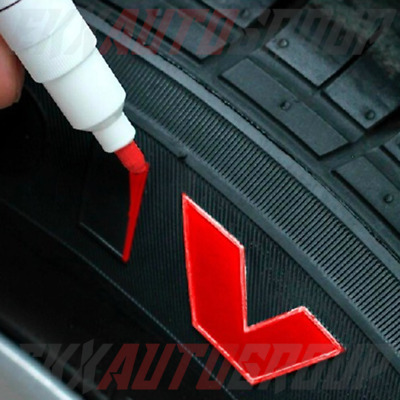 Tire Ink Permanent Marker Tyre Lettering Paint Pen USA Seller TOYO 4 Pack Red