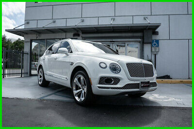 2017 Bentley Bentayga W12 First Edition WHITE OVER TAN HIDES LOADED LOADED WITH OPTIONS AND FACTORY WARRANTY!