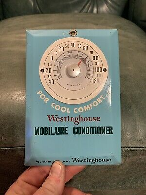 Rare Westinghouse Mobilaire Conditioner Non Gas Oil Thermometer Sign