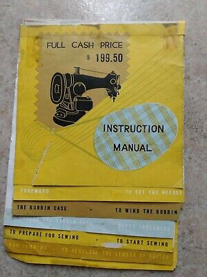 """Antique Electric Sewing Machine Manual 16pp 5""""x7.5"""" Vintage Sewing Advertisement"""