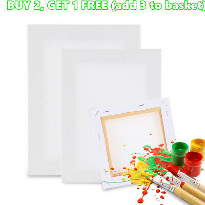 Blank Artist Canvas Art Board Plain Painting Stretched Framed White Large Small#