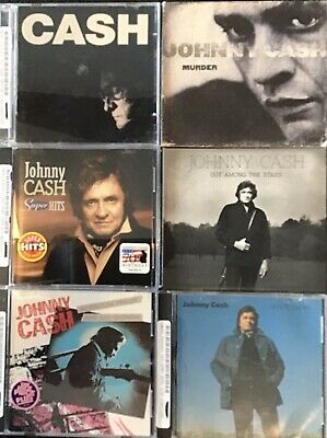 Johnny Cash Lot Of 6 CDs: Super Hits, Murder, Out Among The Stars, Etc.