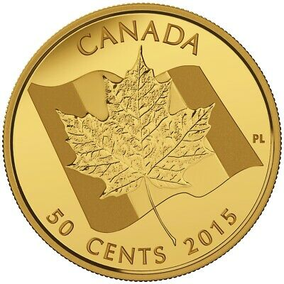 2015 CANADA Maple leaf gold 50 cent coin proof coin in org packaging
