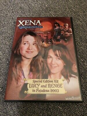 Xena Dvd Special Edition Kit Lucy Lawless & Renee O'Conner In Pasadena 2003