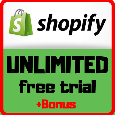 UNLIMITED Shopify Trial - All features & Apps - NO 29$/Month ♨️ 🔥