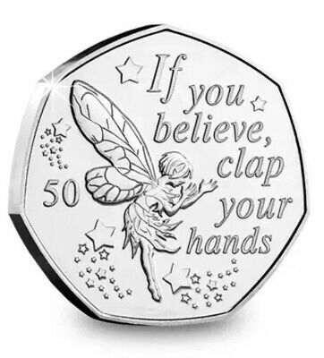 IOM 2019 UNCIRCULATED TINKER BELL 50p  FROM PETER PAN COLLECTION