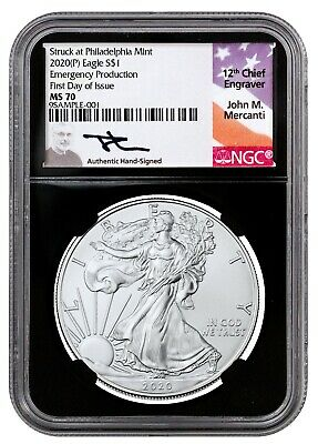 2020 (P) $1 Silver Eagle Philadelphia Emergency Issue NGC MS70 FDI Mercanti