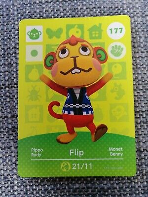 Flip 177 - Official Animal Crossing Amiibo Card Series 2 New Horizons Unscanned
