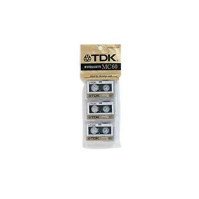TDK MC60 Microcassette 3 - Pack Recording Blank Tapes