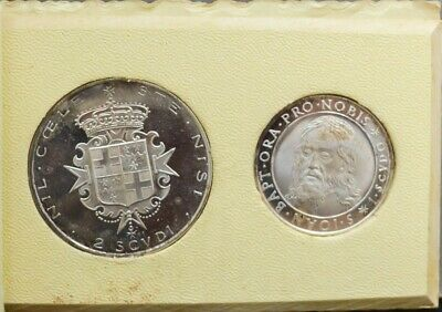 1964 Sovereign Military Order of Malta 2 Coin Silver Set 1&2 Scudi Proof
