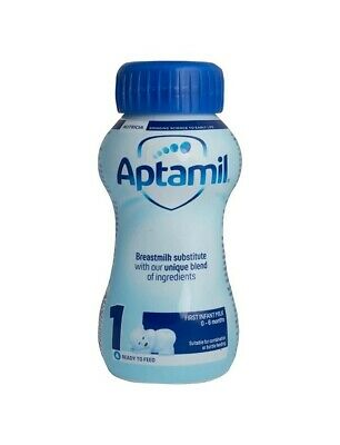 6 x Aptamil 1 First Infant Milk From Birth Ready to Use (6 x 200ml Bottle)