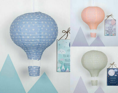 Childrens Hot Air Balloon Paper Light Shade Lamp Ceiling Baby Nursery Decoration