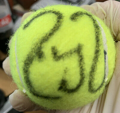 Roger Federer Hand Signed Autographed Wilson 4 US Open Tennis Ball 2019