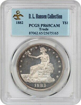 1882 Trade$ PCGS PR 65 CAM ex: D.L. Hansen - Scarce Proof-Only Trade Dollar