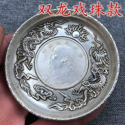 China OLD  Tibetan silver  Chinese Silver coin  plates