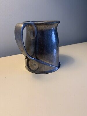 VINTAGE LIBERTY & CO TUDRIC ARCHIBALD KNOX PEWTER TANKARD - Early Number 066
