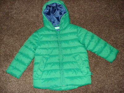 Very Smart UNITED COLORS Of BENNETON Childrens Quilted Green Jacket age 3-4