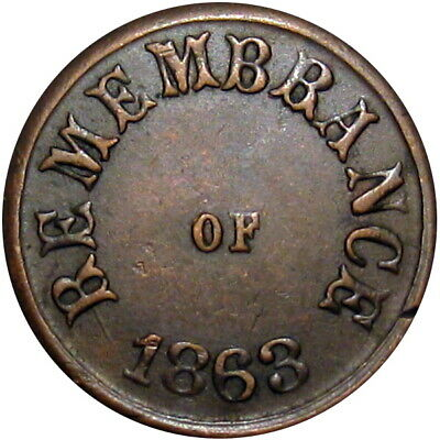 Remembrance Of 1863 Not One Cent Patriotic Civil War Token