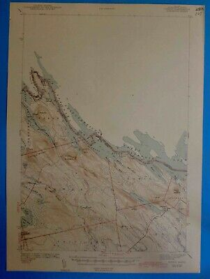 Forest, Maine Vintage USGS Topographic, 1942 Edition
