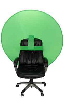 "Webaround 56"" Round Pop Up Chair Screen (green, blue, grey)"