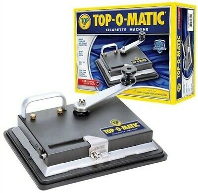 New Top-O-Matic Best Cigarette Rolling Machine Tobacco Injector King &100
