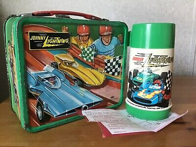 Vintage Johnny Lightning Lunchbox And Thermos