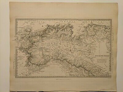 1832 SDUK: Map of Northern Italy in Classical Times