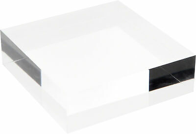 """Plymor Clear Polished Acrylic Square Display Block, 1.5"""" H x 5"""" W x 5"""" D"""