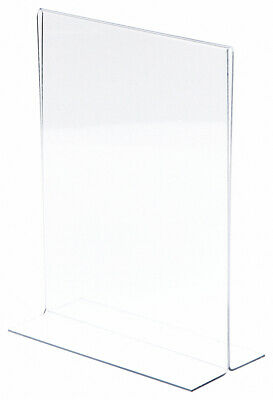 "Plymor Clear Acrylic Sign Display/Literature Holder (Bottom-Load), 8.5"" W x 11""H"